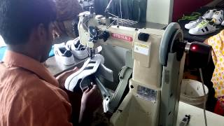 Download Shoe Production: Stitch outsole with upper Video