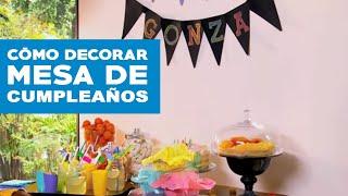 Download ¿Cómo decorar la mesa de cumpleaños? Video