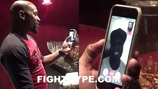 Download MAYWEATHER FACETIMES 50 CENT WHILE WATCHING POWER; GIVES HIM MCGREGOR TRAINING CAMP UPDATE Video
