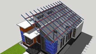 Download Konstruksi Atap Miring Desain Rumah Minimalis #AM01 Video