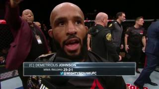 Download The Ultimate Fighter Finale: Demetrious Johnson & Tim Elliott Octagon Interview Video