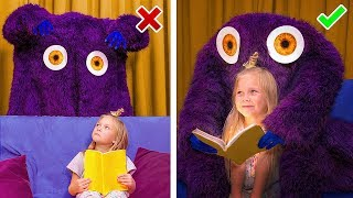Download Monsters vs Kids / 9 Life Hacks to Protect Yourself Against Monsters Video