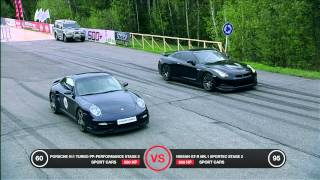 Download Porsche 911 Turbo vs Nissan GT-R Battle Video