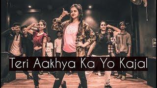 Download Teri Aakhya Ka Yo Kajal | ONE TAKE | Tejas Dhoke Choreography | Dancefit Live Video