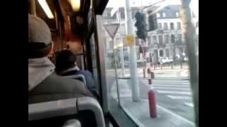 Download STIB/MIVB PCC 7900 Tram ride: From Gare du Midi to Albert I Video