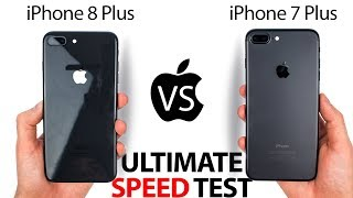 Download iPhone 8 Plus vs 7 Plus - The ULTIMATE SPEED Test! Video