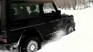 Download Mercedes G500 in snow Video