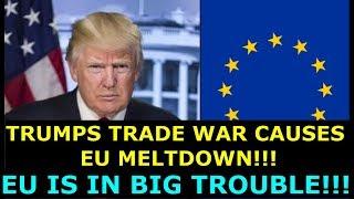 Download TRUMP'S TRADE WAR CAUSES EU MELTDOWN - EU IS IN BIG TROUBLE - EARL OF DARTMOUTH & FARAGE DEFEND US Video