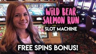 Download WILD Bear Salmon Run Slot Machine! Had to work HARD for that BONUS! Video