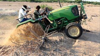Download John Deere Tractor Ride On River Sand Dunes - 50HP New 5050D Tractor Video