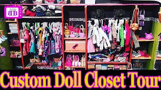 Download Custom DOLL Walk-In CLOSET ROOM TOUR (DIY Homemade)- PLUS easy Barbie Doll Crafts Video