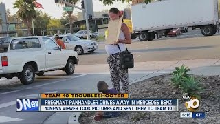 Download Caught on camera: Pregnant beggar with boy drives off in a Mercedes-Benz Video