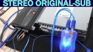 Download Como conectar estereo original a amplificador y subwoofer (completo) Video