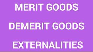 Download Merit goods, demerit goods and externalities Video