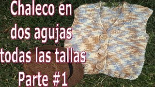 Download Chaleco en dos agujas todas las tallas - Vest in two needles all sizes - knitting Video