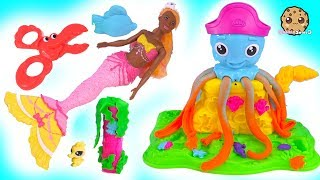 Download Ocean Play Doh Friends with Mermaid Barbie Doll - Cookie Swirl C Video Video