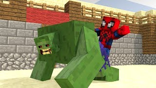 Download HULK VS SPIDERMAN - Minecraft Animation Video