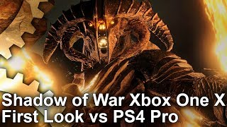 Download [4K] Shadow of War: Early Xbox One X vs PS4 Pro Graphics Comparison + Frame-Rate Test Video