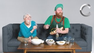 Download Dude Smokes Weed with his Grandma for the First Time | Strange Buds | Cut Video