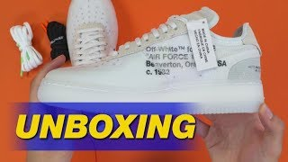 Download Off-White x Nike Air Force 1 by Virgil Abloh | Unboxing Video