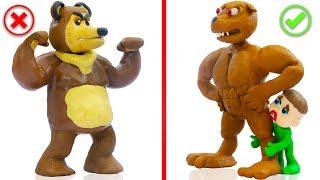 Download SUPERHERO BABY DOG WILD BEAR ANIMALS 💖 Play Doh Cartoons For Kids Video