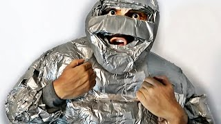Download 100 ROLLS OF DUCT TAPE SUIT (ULTIMATE 100 LAYER CHALLENGE) Video