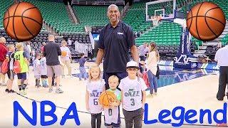 Download Kids meet a REAL NBA Basketball Player Legend! Video