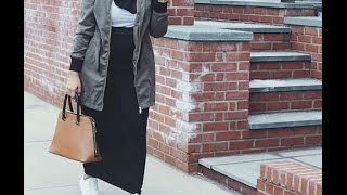Download أفكار لتنسيق الجاكيت والتنانير Jacket & maxi skirt hijab outfits ideas Video