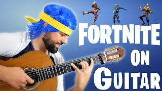 Download FORTNITE DANCES ON GUITAR Video
