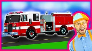 Download Blippi Fire Trucks for Children | Fire engines for kids and Fire Truck Tour Video