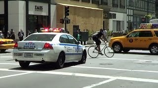 Download *asshole cyclist* NYPD cruiser responding [NY | 7/23/2013] Video