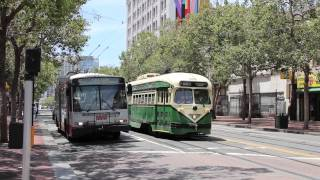 Download San Francisco MUNI (SFMTA) Trolleybuses and Streetcars Video