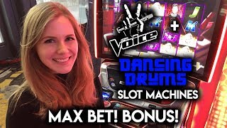 Download MAX BET BONUS! Singing and Dancing with The Voice! and Dancing Drums! Slot Machines!!! Video
