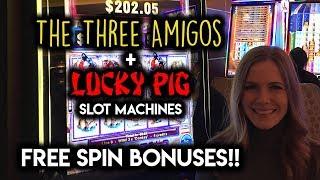 Download Unlucky Pig and 3 Amigos Slot Machines Bonus Win!!! Video
