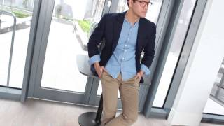 Download 3 Ways to wear a navy blazer Video