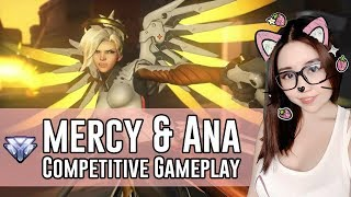 Download Overwatch | Ana & Mercy Gameplay on Lijiang tower | Competitive Overwatch Livestream Video