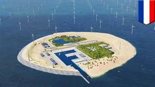 Download World's biggest wind farm? Dutch to build artificial island and wind farm in North Sea - TomoNews Video