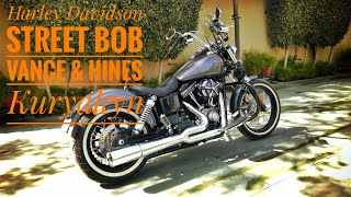 Download Vance & Hines Propipe, FP 3 and Kuryakyn Mach 2 breather on a 2014 Dyna Street Bob Video
