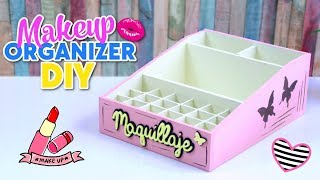 Download HOW TO MAKE DIY EASY AND USEFUL MAKEUP ORGANIZER MADE WITH CARDBOARD BOXES - RECYCLED CRAFTS Video