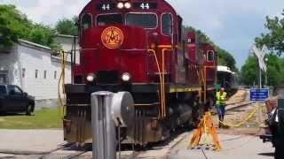 Download A&M Scenic Train Backing Into The Depot In Van Buren, AR Video