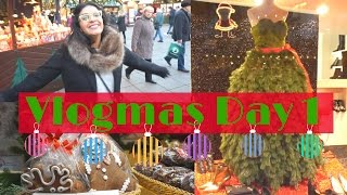 Download VLOGMAS DAY 1, 2016 🎄🎁 | Christmas Market 🎅🛍 | Birthday Shopping Video