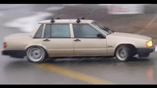 Download EPIC STREET DRIFTING IN A VOLVO 740 TURBO NAMED ″GOLDIE″ Video