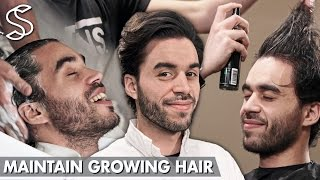 Download Maintain Growing Hair ★ How to cut your hair while growing it longer ★ Men's Hair Video