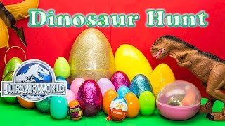 Download Opening DINOSAURS Surprise Eggs from Jurassic World with the Assistant Video