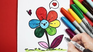 Download رسم زهرة بالرصاص والخطوات | كيف ترسم زهرة | رسم وردة رسم سهل Video