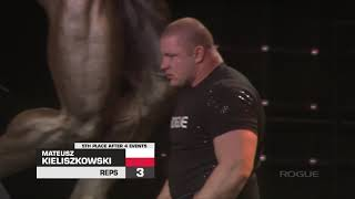 Download Mateusz Kieliszkowski 5 Reps of the Stone over Shoulder - 2019 Arnold Strongman Classic Video