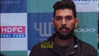 Download YUVRAJ Singh's amazing response when Reporter asked him about DHONI Video