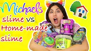 Download MICHAELS SLIME VS HOME-MADE SLIME | store bought or homemade slime | Slimeatory #197 Video
