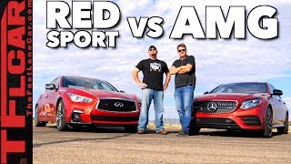 Download Too Close to Call! Mercedes-AMG E43 vs Infiniti Q50 Red Sport Drag Race Video