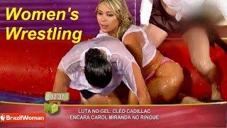 Download Women's wrestling in pool of glue Part 2 Video